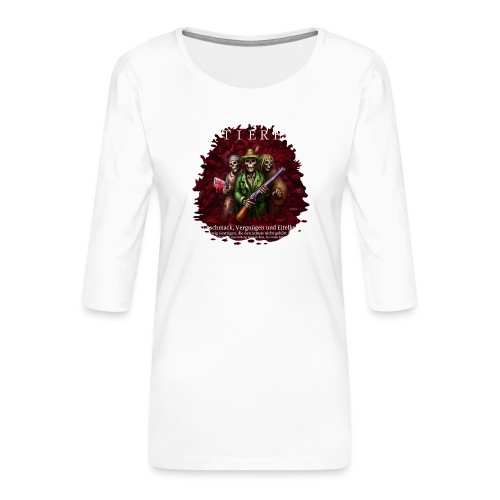 TIERE - Frauen Premium 3/4-Arm Shirt