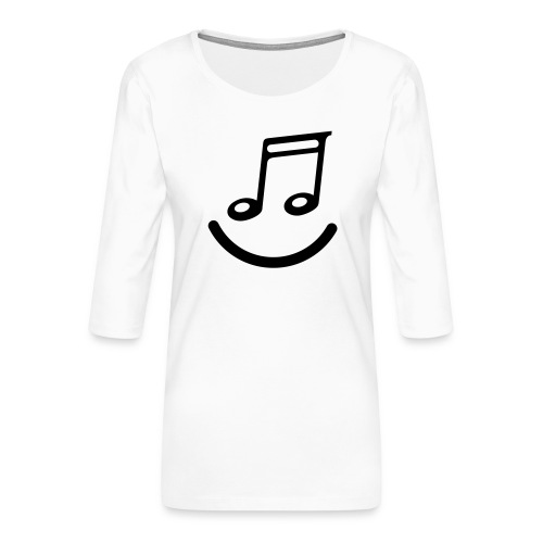 muzieknoot - Vrouwen premium shirt 3/4-mouw