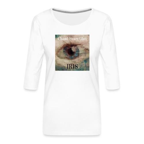 Iris - Premium T-skjorte med 3/4 erme for kvinner