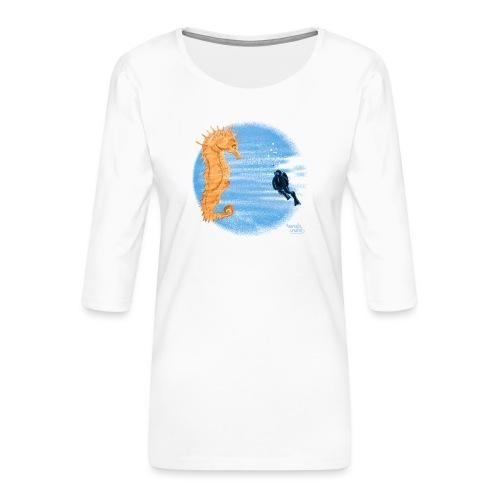 Zeepaardje - T-shirt Premium manches 3/4 Femme