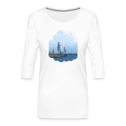Première neige - T-shirt Premium manches 3/4 Femme