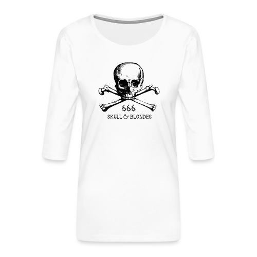 skull & blondes (black) - Frauen Premium 3/4-Arm Shirt