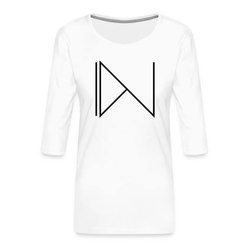 Icon on sleeve - Vrouwen premium shirt 3/4-mouw