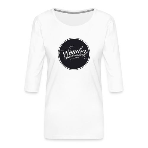Wonder T-shirt - oldschool logo - Dame Premium shirt med 3/4-ærmer