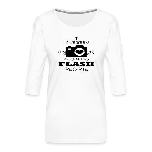 Photographer - Women's Premium 3/4-Sleeve T-Shirt