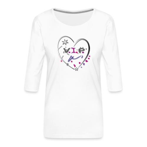 VIP Herz Liebe Stern - Frauen Premium 3/4-Arm Shirt