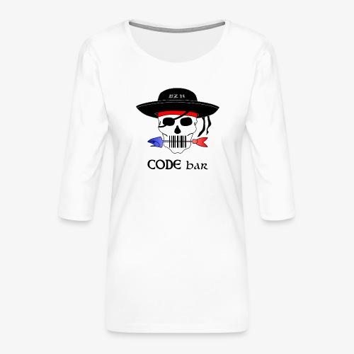 Code Bar couleur - T-shirt Premium manches 3/4 Femme