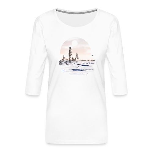 Fonte des glaces - T-shirt Premium manches 3/4 Femme
