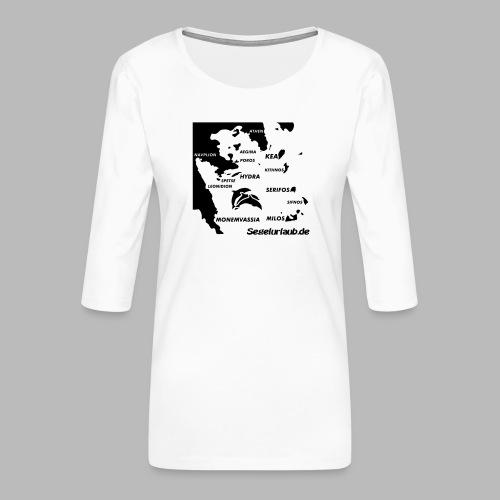pelepones_kykladen - Frauen Premium 3/4-Arm Shirt