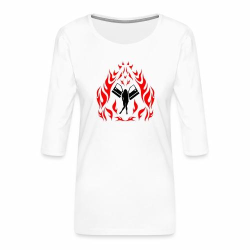 Engel / Flammen - Frauen Premium 3/4-Arm Shirt