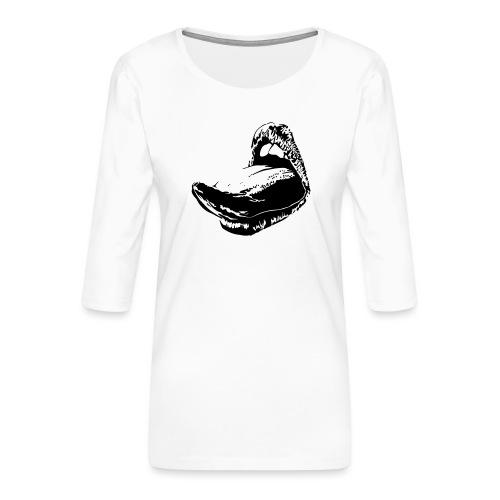langue femme - T-shirt Premium manches 3/4 Femme