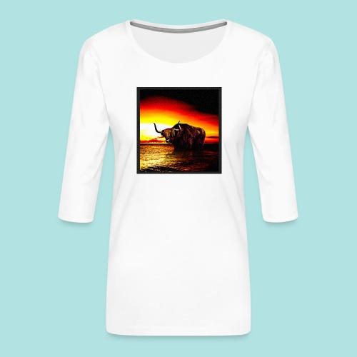 Wandering_Bull - Women's Premium 3/4-Sleeve T-Shirt