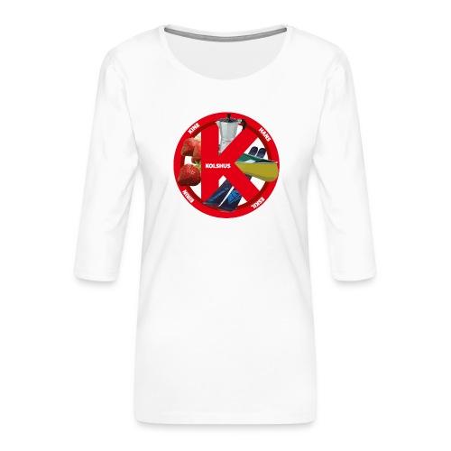 logoforeskil - Women's Premium 3/4-Sleeve T-Shirt