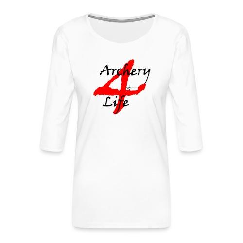 Archery4Life - Frauen Premium 3/4-Arm Shirt