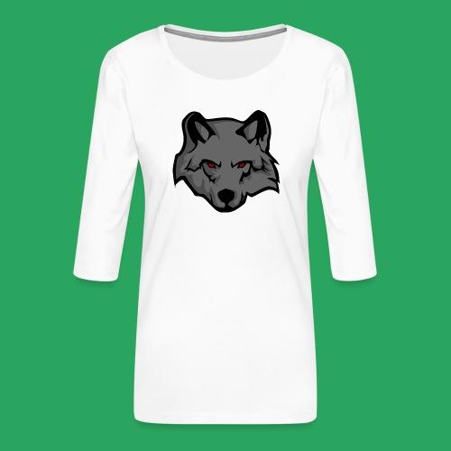 wolf logo - Maglietta da donna premium con manica a 3/4