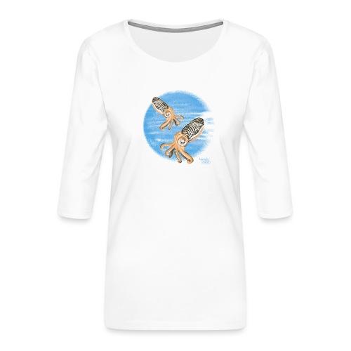 Sepia - scuba diving - T-shirt Premium manches 3/4 Femme