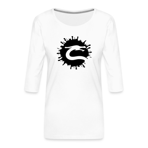 Dragemester_Sort - Dame Premium shirt med 3/4-ærmer