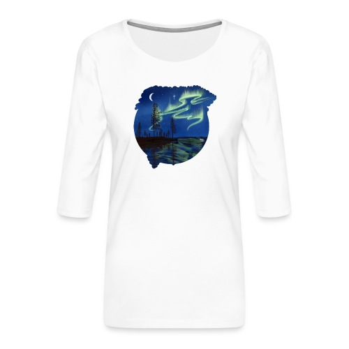 Reflet des aurores boréales - lapland8seasons - T-shirt Premium manches 3/4 Femme