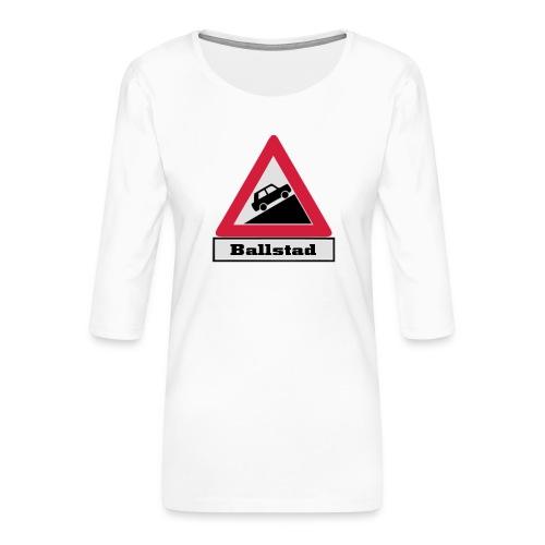 brattv ballstad a png - Premium T-skjorte med 3/4 erme for kvinner