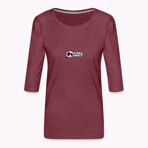 logo_PIGstudio-png - Maglietta da donna premium con manica a 3/4