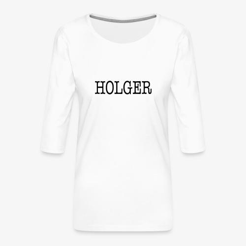 Holger Snapback Cap - Dame Premium shirt med 3/4-ærmer