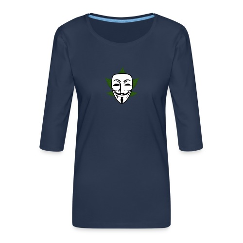 Anonymous - Vrouwen premium shirt 3/4-mouw