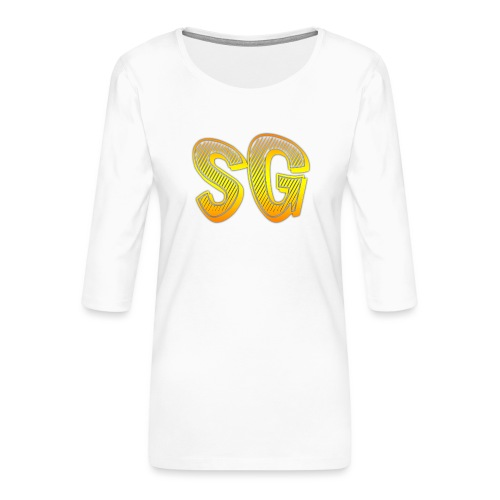 SG Uomo - Maglietta da donna premium con manica a 3/4