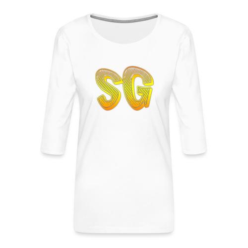 Felpa SG Donna - Maglietta da donna premium con manica a 3/4