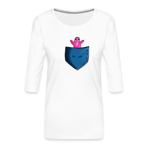 Lomme monster - Dame Premium shirt med 3/4-ærmer