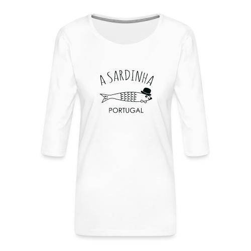 A Sardinha - Portugal - T-shirt Premium manches 3/4 Femme