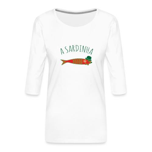 A Sardinha - Bandeira - T-shirt Premium manches 3/4 Femme