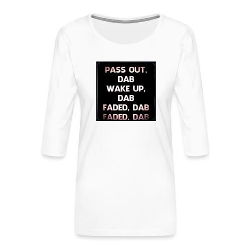 DAB - Vrouwen premium shirt 3/4-mouw