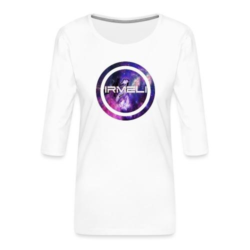 GALAXY LOGO - Naisten premium 3/4-hihainen paita