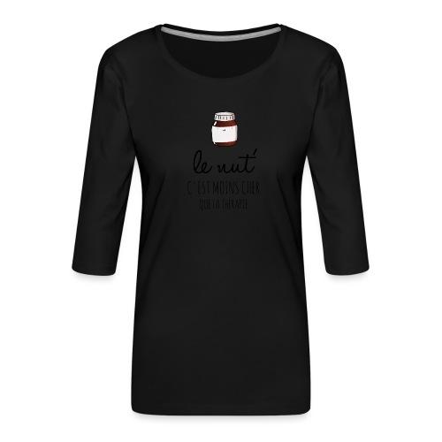 Le Nut' - T-shirt Premium manches 3/4 Femme