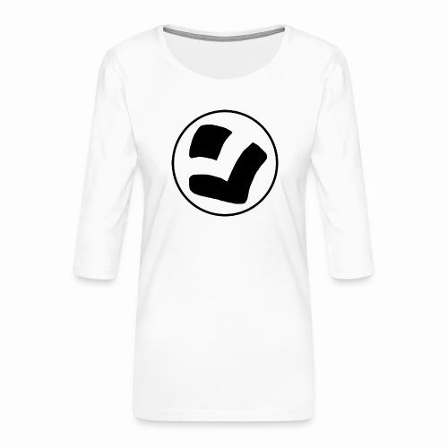 LaidPark Black Logo - Naisten premium 3/4-hihainen paita