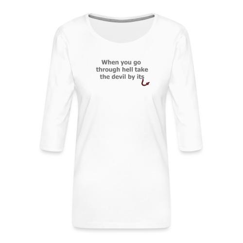 diable - T-shirt Premium manches 3/4 Femme