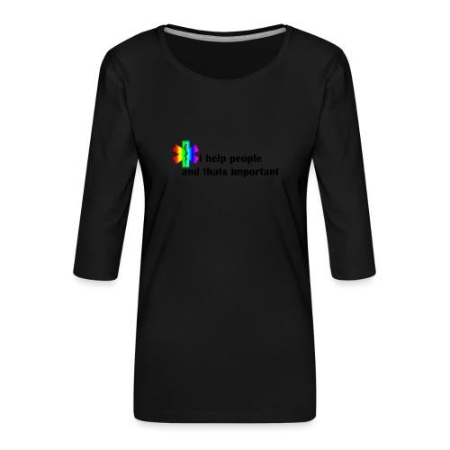 i help people - Vrouwen premium shirt 3/4-mouw
