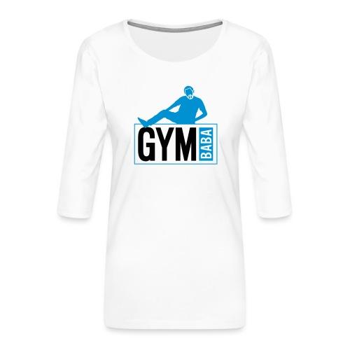Gym baba 2 2c - T-shirt Premium manches 3/4 Femme