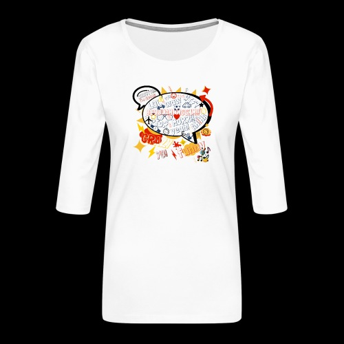 crazystreettalk - T-shirt Premium manches 3/4 Femme