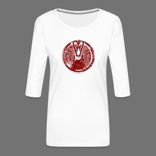Maschinentelegraph (punainen oldstyle) - Naisten premium 3/4-hihainen paita