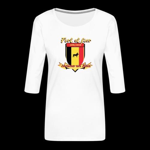 belgique foot coupe du monde - T-shirt Premium manches 3/4 Femme