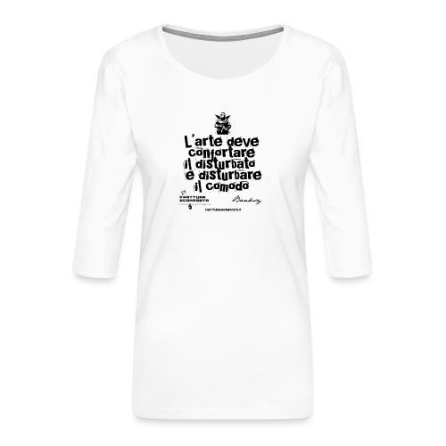 Aforisma Banksy - Maglietta da donna premium con manica a 3/4