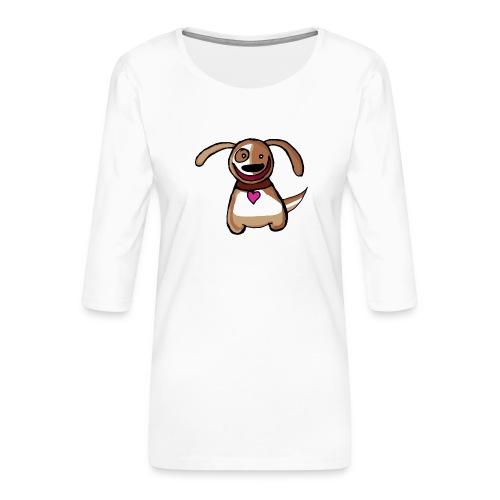 Titou le chien - T-shirt Premium manches 3/4 Femme