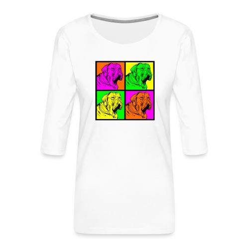 Bouledogue Anglais Couleur - T-shirt Premium manches 3/4 Femme