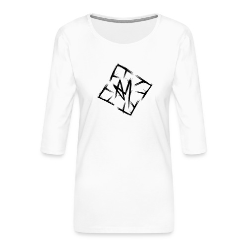 Across Yourself - Logo black transparent - Women's Premium 3/4-Sleeve T-Shirt