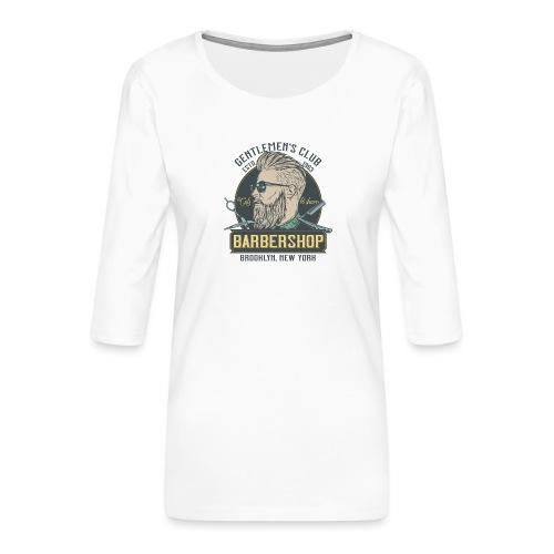 Classic barbershop font 5 - Maglietta da donna premium con manica a 3/4