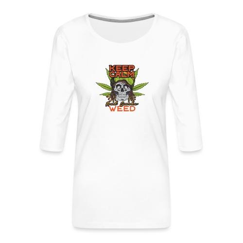 Skulls set 12 - Maglietta da donna premium con manica a 3/4