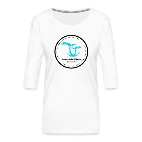 LOGO PARCO DELLE VILLETTE - Maglietta da donna premium con manica a 3/4