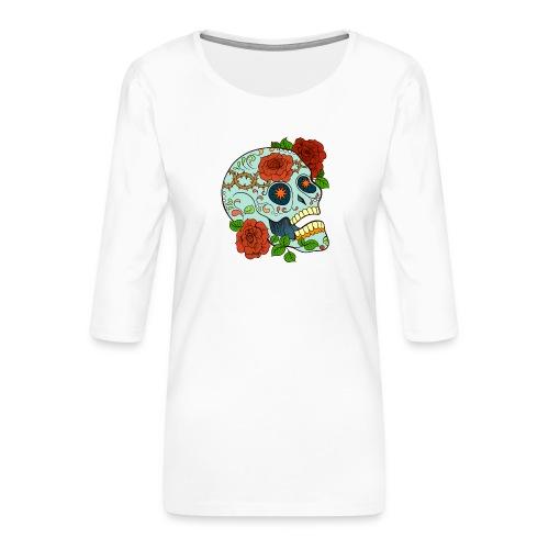 Mexican Skull 5 - Maglietta da donna premium con manica a 3/4