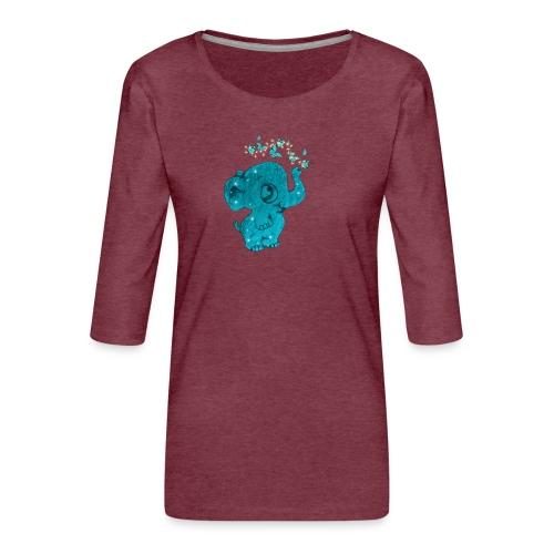 Elefante - Maglietta da donna premium con manica a 3/4